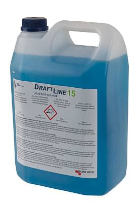 Draftline Detergent 5L with 15 % Sodium hydroxide.